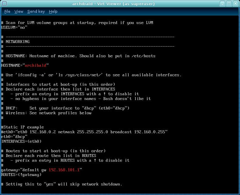 ArchLinux 2010 05 - vm installation guide