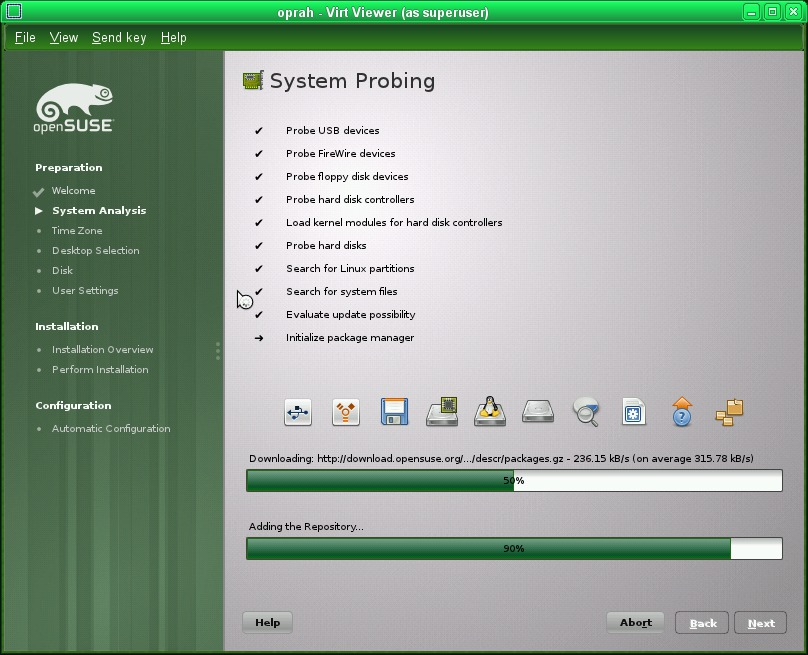 openSUSE 11 4 - vm installation guide